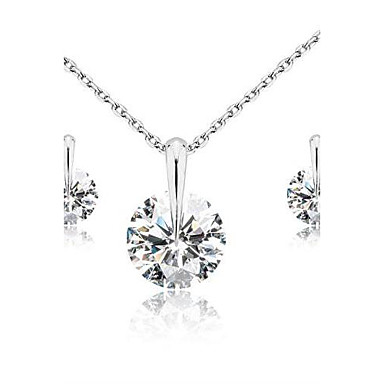 Jewelry Set Cubic Zirconia Classic Wedding Party Birthday Engagement Gift Daily Casual Earrings Necklaces Costume Jewelry