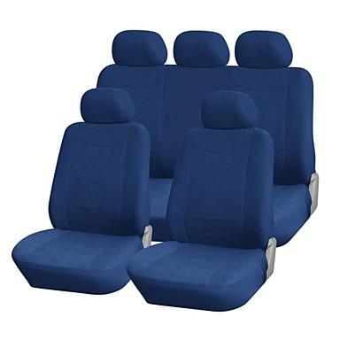 9 stuks set Car Seat Covers Bont Velvet Materiaal Universal Fit Auto-accessoires
