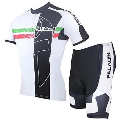 ILPALADINO Herrn Kurzarm Fahrradtriktot mit Fahrradhosen - Rot Fahhrad Shorts/Laufshorts Trikot/Radtrikot Kleidungs-Sets, Rasche
