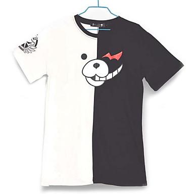 Inspirovaný Dangan Ronpa Monokuma Video Hra Cosplay kostýmy Cosplay T-shirt Barevné bloky Biały / Czarny Krátké rukávy Trička