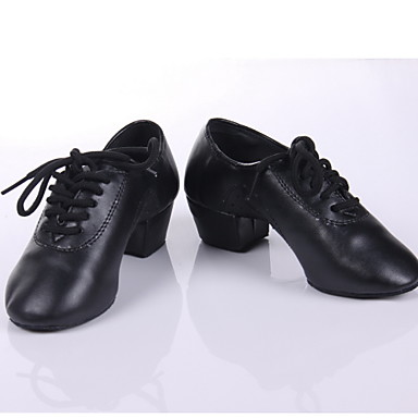 baratos Shall We® Sapatos de Dança-Homens Sapatos de Dança Couro Sintético Sapatos de Dança Moderna / Dança de Salão / Sapatos de Ensaio Salto Salto Robusto Não Personalizável Preto / Preto / EU43