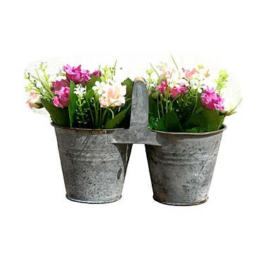 Mini Restoring Ancient Ways, Creativity, Wrought Iron Flower Pot, Flower Drum