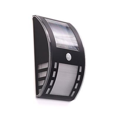 billige Utendørsbelysning-2-LED Hvit Utendørs Solar Power veggmontert lys med PIR Motino Sensor