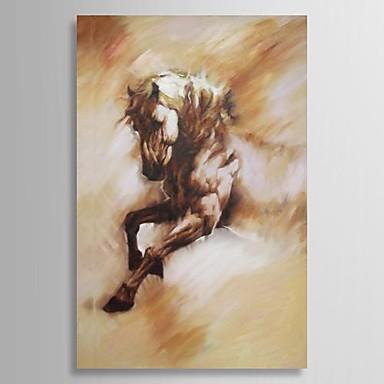 Ručně malované Zvíře Jeden panel Plátno Hang-malované olejomalba For Home dekorace