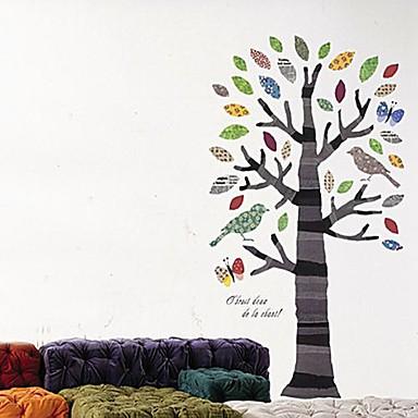 Createforlife ® Cartoon Tree Bird Kids Nursery Room Wall Sticker Wall Art Decals