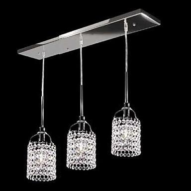 sl® Tiffany krystal kov Závěsná Světla žijící