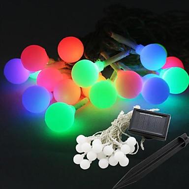 Leuchtgirlanden 20 LEDs RGB Weiß Wasserfest