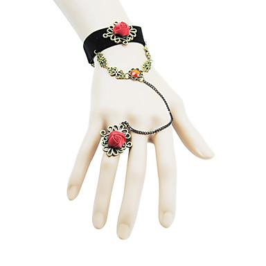 Coolshine Vintage Rose Wedding Bracelet With Rings-2014-201-LSL032