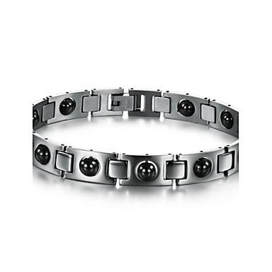 Pánské Široké náramky Tenisové Náramky Jedinečný design Módní Syntetické drahé kameny Titanová ocel Ostatní Šperky Vánoční dárky Svatební