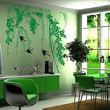 Landscape Wall Stickers Plane Wall Stickers Decorative Wall Stickers, Vinyl Home Decoration Wall Decal Wall