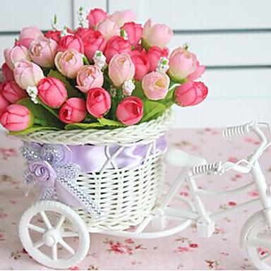 Kunstige blomster 1 Afdeling Moderne Stil Roser Bordblomst