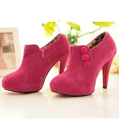 tacco in camoscio stivaletti Party & Sera scarpe moda a spillo delle donne (più colori)