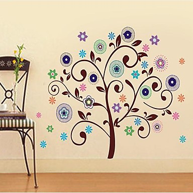 Createforlife ® Good Flower Stromy Dětský Nursery Room Wall Sticker Wall Art Decals