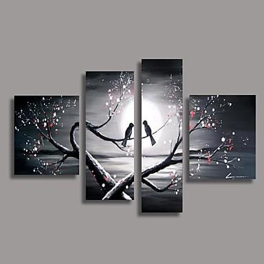 Hånd-malede Blomstret/Botanisk enhver Shape, Europæisk Stil Moderne Hang-Painted Oliemaleri Hjem Dekoration Fire Paneler