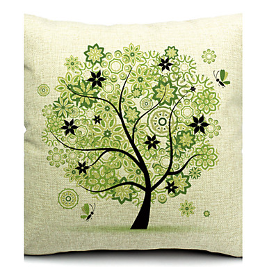 1 pcs Cotton/Linen Pillow Cover,Nature Modern/Contemporary
