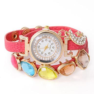 Herrn Damen Quartz Armbanduhr Modisch PU Band Armbanduhr Freizeit Schwarz