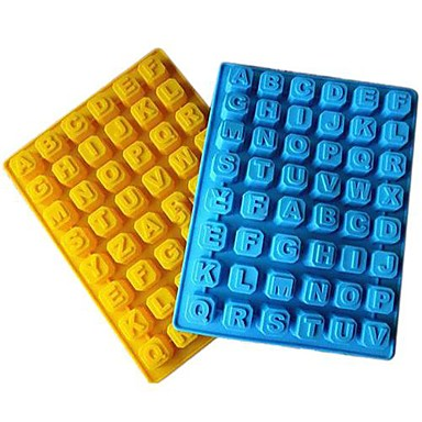 48 Grid of Letters Ice Mould Plastic Random Color(11.8x7x0.92 inch)