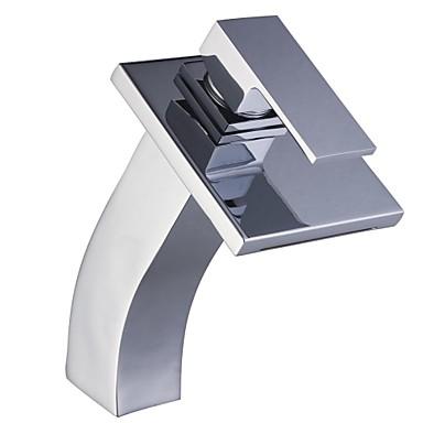 Современный По центру Одной ручкой одно отверстие in Хром Ванная раковина кран
