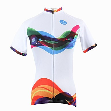 ILPALADINO Pentru femei Manșon scurt Jerseu Cycling Bicicletă Jerseu, Uscare rapidă, Rezistent la Ultraviolete, Respirabil