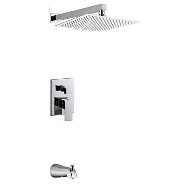 12 inch perete crom modern de montare ploaie manere duble duș alama robinet cu duș și robinet robinet