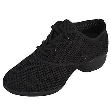 Танцевальные Кеды женские кроссовки низкий каблук тюль с шнуровке танцевальной обуви (больше цветов)
