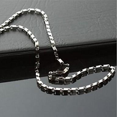 moda oțel titan solid lanț colier pentru bărbați