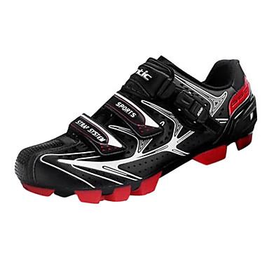 billige Sykkelsko-SANTIC Mountain Bike-sko Karbonfiber Pustende, Anti-Skli Sykling Svart Herre Sykkelsko / ånd bare Blanding