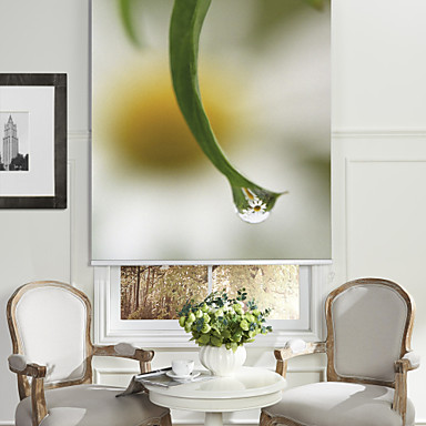 ботанический стиль лист&крошечные цветы ролик тени