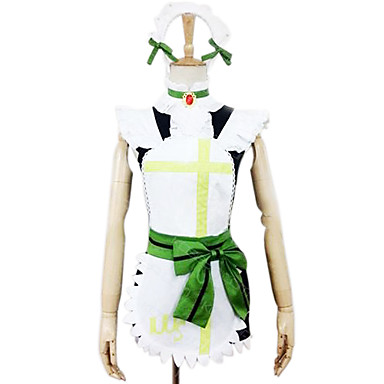 Inspired by Love Live Rin Hoshizora Anime Cosplay Costumes Cosplay Suits Patchwork Short Sleeves Dress Headpiece Apron Belt Socks For