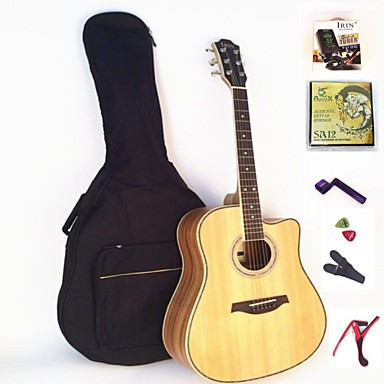 irin folk the acoustic guitar 41 inches package tuner strings capo grover plectrum strap 1878430. Black Bedroom Furniture Sets. Home Design Ideas