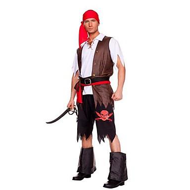 Cosplay Kostuums Feestkostuum Piraat Festival/Feestdagen Halloweenkostuums Patchwork Jas Blouse Riem Schoenen Hoofddeksels Halloween