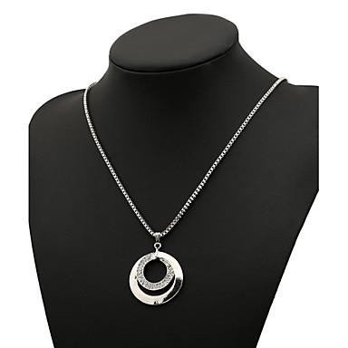 Damen Diamantimitate Anhängerketten Statement Ketten  -  Luxus Modisch Kreisform Geometrische Form Gold Silber Modische Halsketten Für