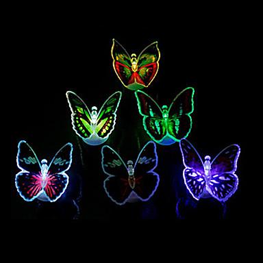 свет ночи света украшения света 12pcs светящий яркий свет бабочки водить (случайный цвет)