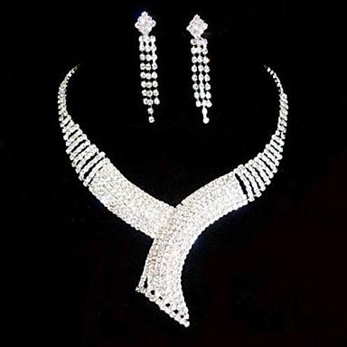 Šperky Set Dámské Svatba / Párty Sady šperků Slitina / imitace drahokamu imitace drahokamu Náhrdelníky / Küpeler Stříbrná