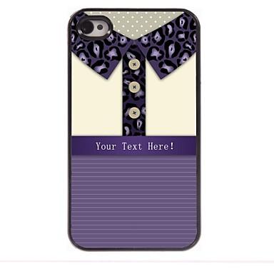 dar leopard caz personalizate tricou de imprimare de proiectare metalice pentru iPhone 4 / 4s