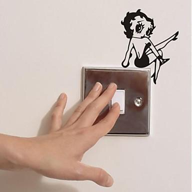 Винтаж Наклейки Простые наклейки Наклейки для выключателя света, Винил Украшение дома Наклейка на стену Стена