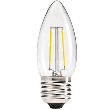 1pc 400 lm E26/E27 LED-gloeilampen C35 leds COB Dimbaar Decoratief Warm wit AC 220-240V