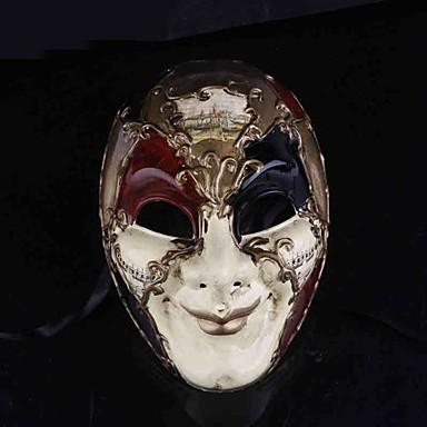 Masker Cosplay Festival/Feestdagen Halloween Kostuums Rood / Wit Print  Masker Halloween Mannelijk PVC