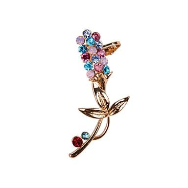 Per Donna Polsini Strass Orecchini Fiore Decorativo Colorato Gioielli Per Matrimonio Feste Quotidiano Casual Sport #01933792 Prima Qualità