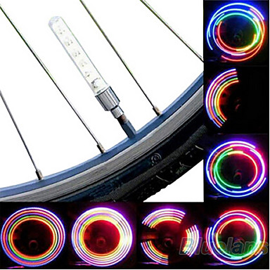 Radlichter Rad beleuchtet Ventilkappen Blinklichter LED Radsport Batterien Lumen Batterie Radsport