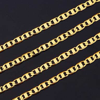 Erkek Zincir Kolyeler - Altın Kaplama Altın Kolyeler Uyumluluk Yılbaşı Hediyeleri, Parti