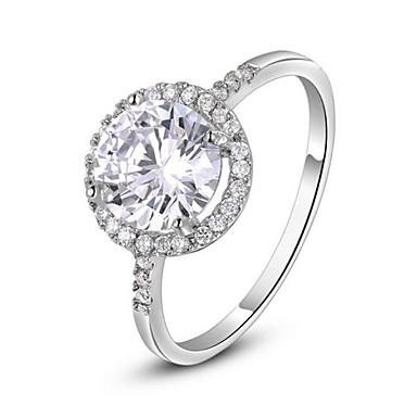 Pentru femei Cristal Placat Auriu Diamante Artificiale Inel de declarație - Clasic Argintiu Auriu Inel Pentru Nuntă Petrecere Zilnic