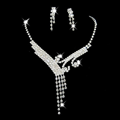 Pentru femei Ștras Set bijuterii Include - Aliaj Pentru Nuntă Petrecere Ocazie specială Aniversare Zi de Naștere Logodnă Cadou