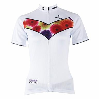 ILPALADINO Jerseu Cycling Pentru femei Mânecă scurtă Bicicletă Jerseu Topuri Uscare rapidă Rezistent la Ultraviolete Respirabil100%