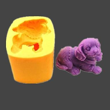 câine fondantă animal tort de ciocolată rășină lut mucegai bomboane silicon, l5.5cm * w4cm * h3.6cm