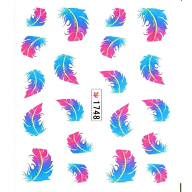 1pcs 3D Nagel Sticker Nagel Stamping Vorlage Alltag Blume Zeichentrick Modisch lieblich Gute Qualität