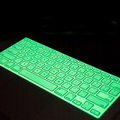 nacht lichtgevende multicolor zachte siliconen toetsenbord huid van de dekking voor apple macbook pro 13