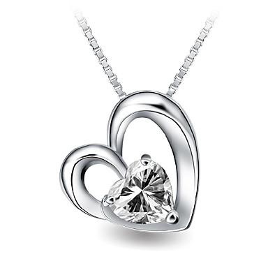 Женский Ожерелья с подвесками Кристалл Стерлинговое серебро Любовь Бижутерия Назначение