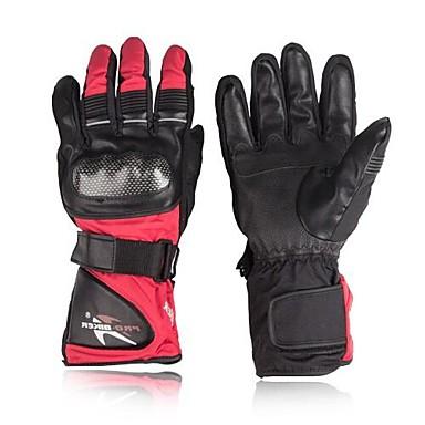 Vollfinger Leder Leder Nylon Motorräder Handschuhe