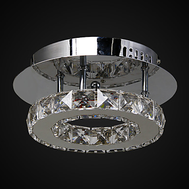 Flush Mount ,  Modern/Contemporary Chrome Feature for Crystal LED Metal Living Room Bedroom Entry Outdoors